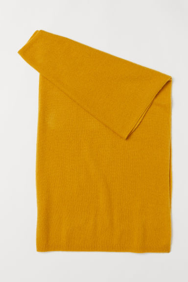 Cashmere scarf - Mustard yellow -  | H&M