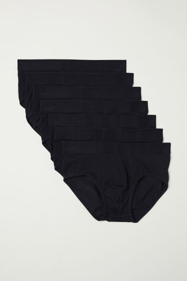 7-pack briefs - Black - Men | H&M
