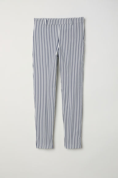 Cigarette trousers - White/Striped - Ladies | H&M