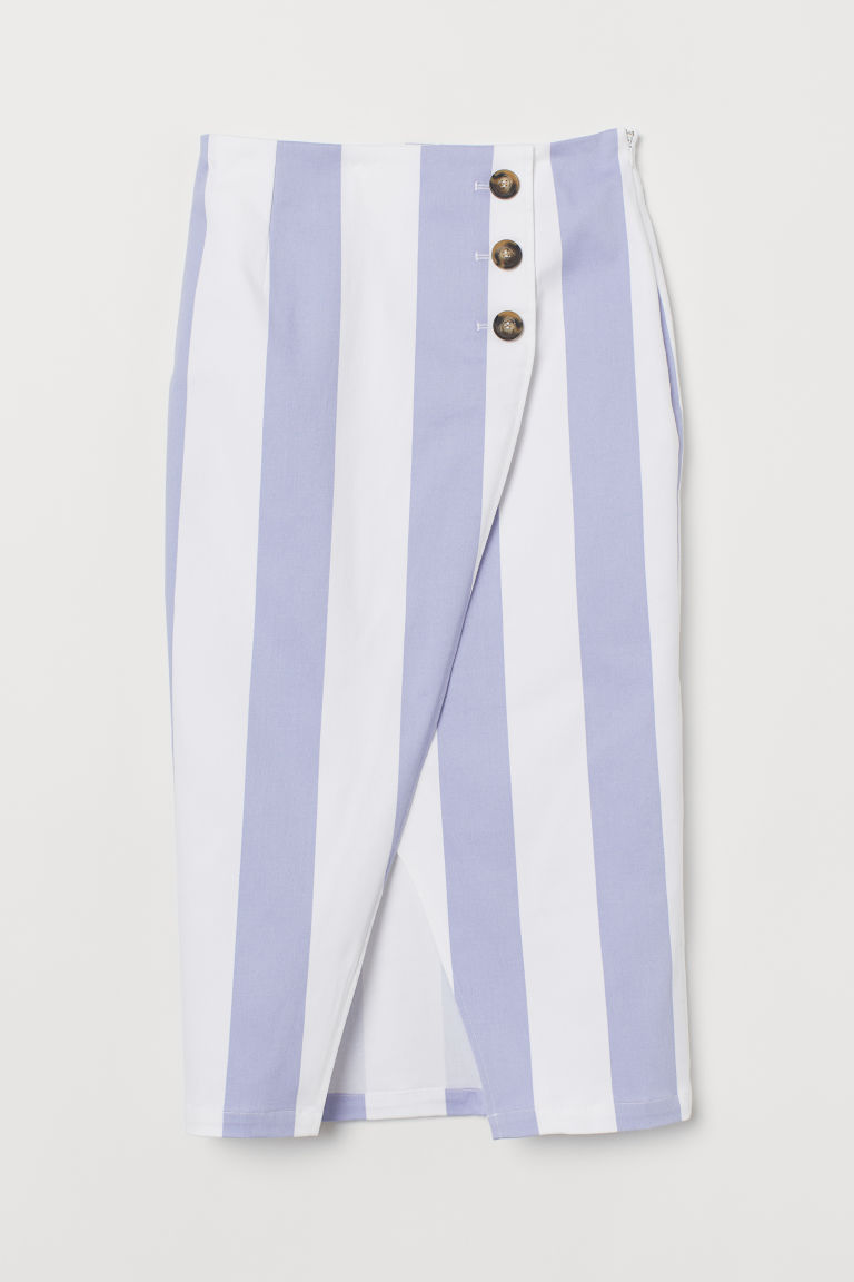 Pencil skirt - Blue/White striped - Ladies | H&M