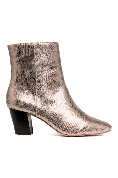Shimmering ankle boots - Rose gold-coloured - Ladies | H&M
