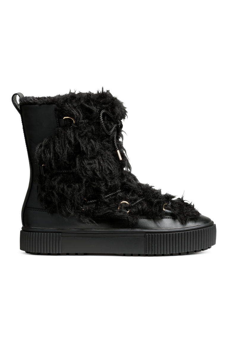Pile-lined boots - Black - Ladies | H&M IE