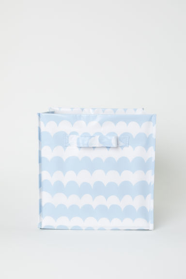 Storage box - Light blue/White patterned - Home All | H&M CN