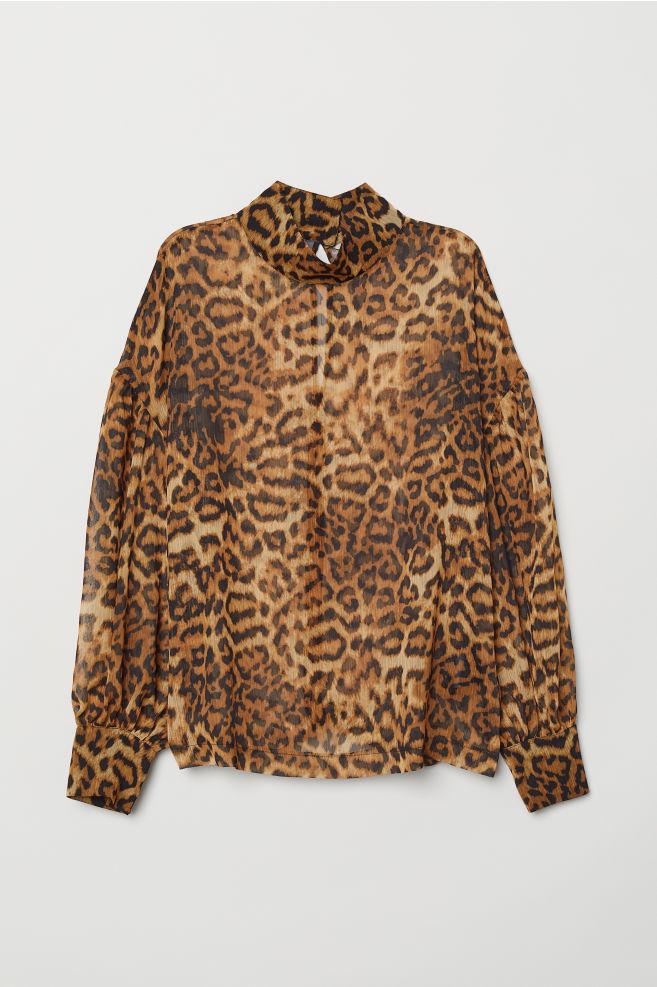 fc84cc3256713b Leopard-print Blouse - Leopard print - Ladies | H&M ...