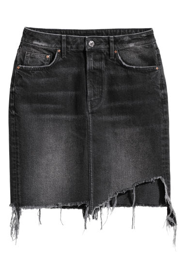 Denimskjørt - Sort/Washed -  | H&M NO