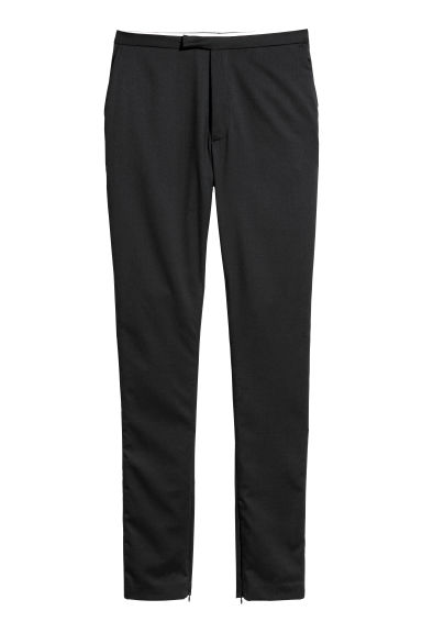 Wool-blend trousers - Black - Ladies | H&M GB
