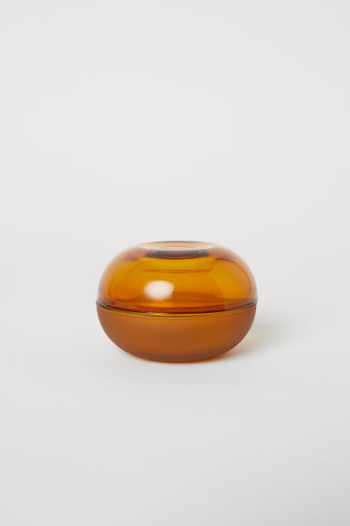 Small glass pot - Mustard yellow - Home All | H&M CN