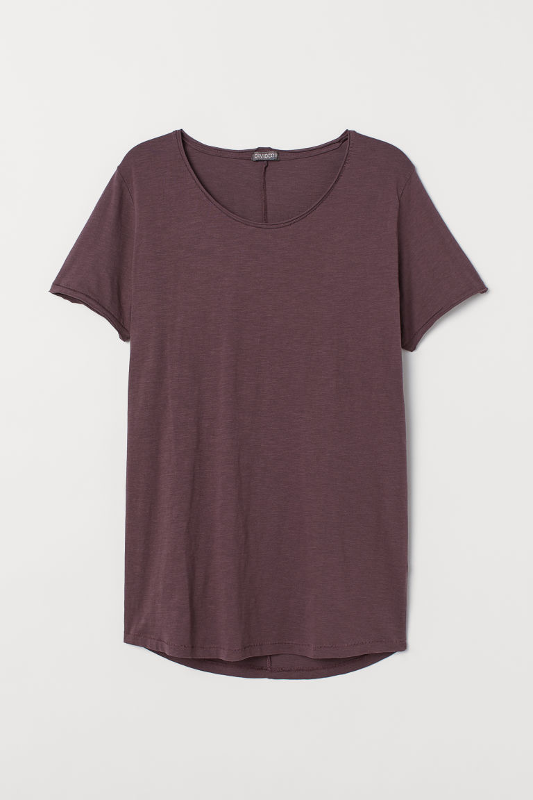 T-shirt con bordi a vivo - Dark purple - UOMO | H&M IT