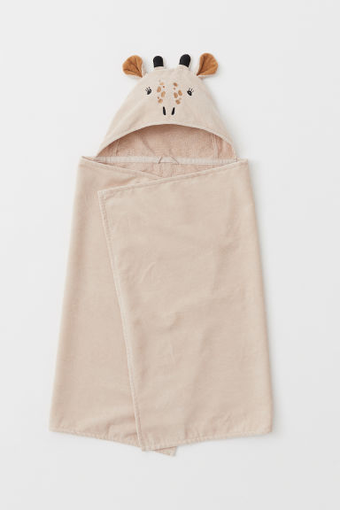 Hooded bath towel - Beige/Giraffe - Home All | H&M CN