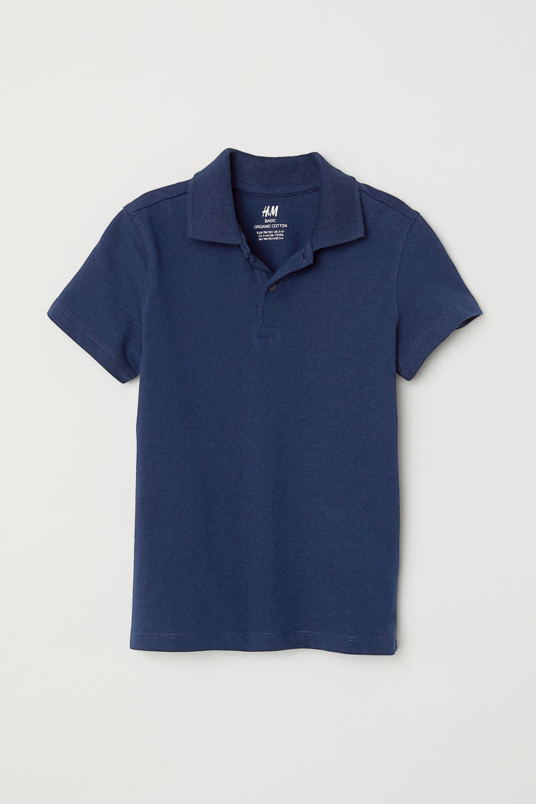 Polo shirt - Dark blue - Kids | H&M CN