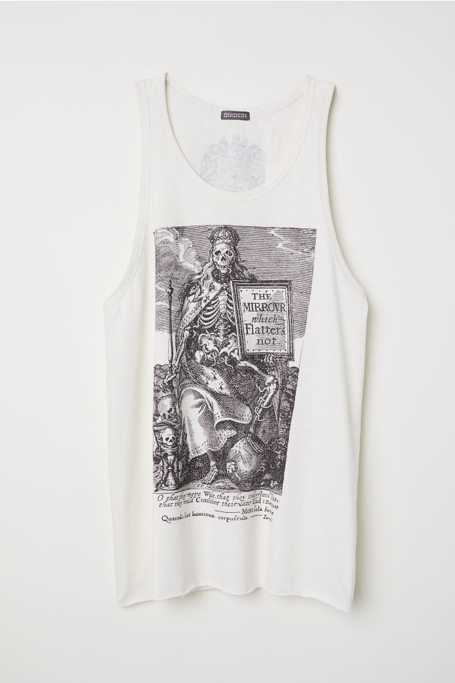 3ce88fc0e6262d Tank Top with Printed Design - Natural white - Men
