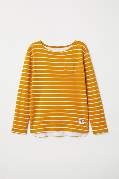 Striped jersey top - Yellow/Striped - Kids | H&M CN