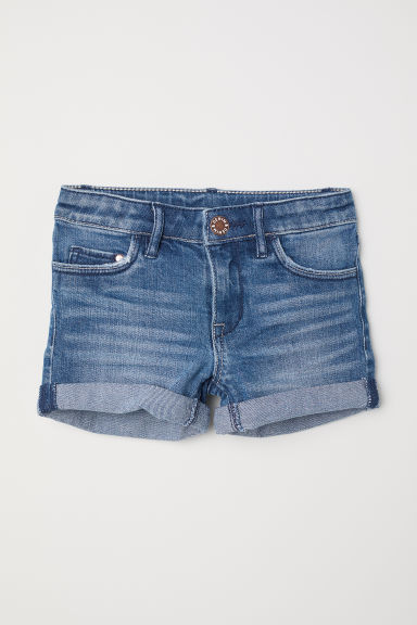 Jeansshort - Denimblauw -  | H&M BE