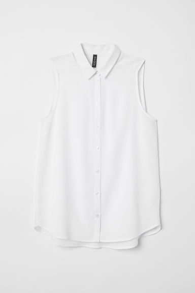 Sleeveless viscose blouse - White -  | H&M