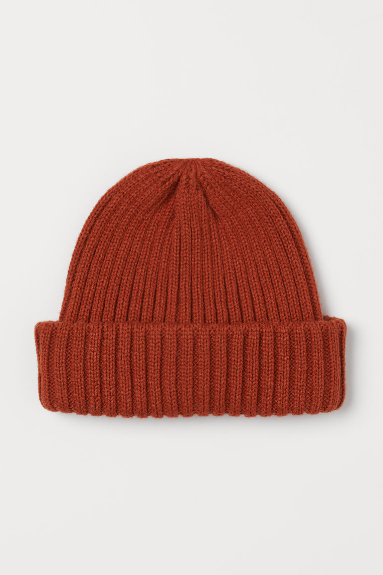 Rib-knit Hat - Rust orange -  | H&M US
