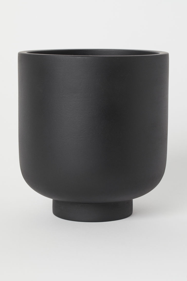 Wooden plant pot - Black - Home All | H&M CA