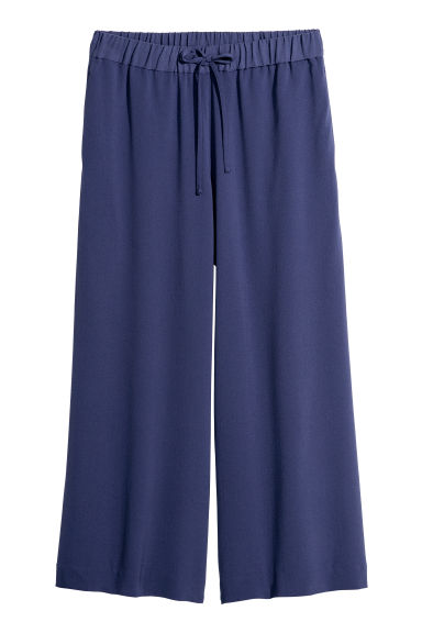 Wide trousers - Dusky blue - Ladies | H&M