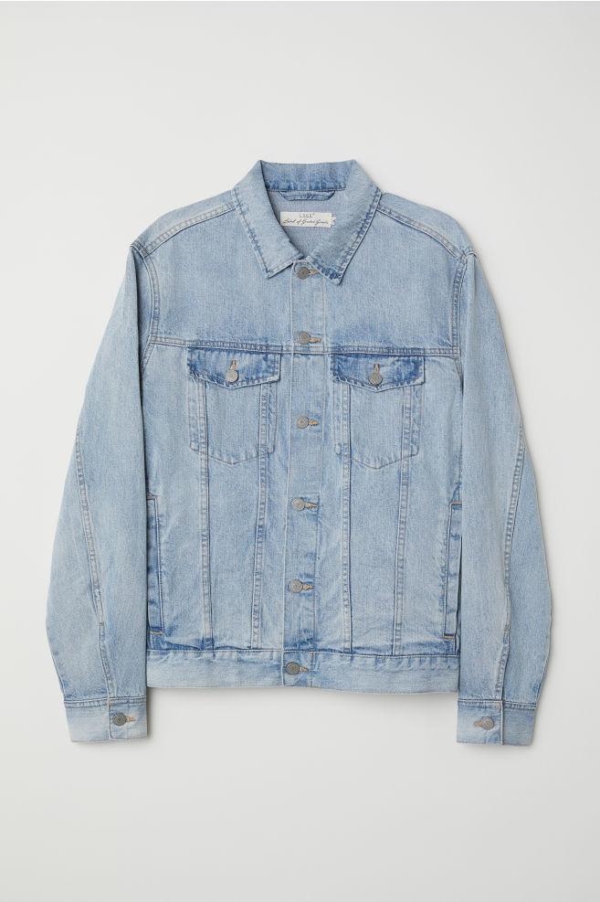 0732bdb323b Denim Jacket - Light denim blue - Men   H&M ...