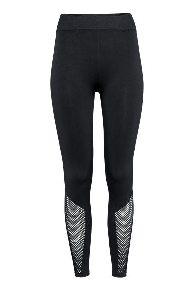 Seamless yoga tights - Black -  | H&M IE