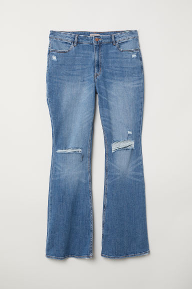 H&M+ Flare High Jeans - Denim blue - Ladies | H&M
