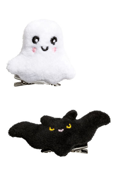 2-pack hair clips - Ghost/Bat -  | H&M IE