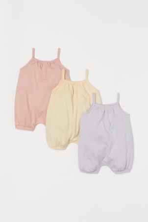 3-pack Sleeveless Romper Suits