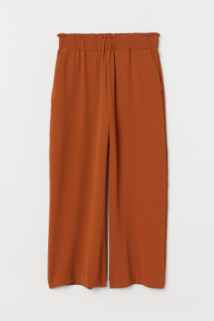Cropped pull-on trousers