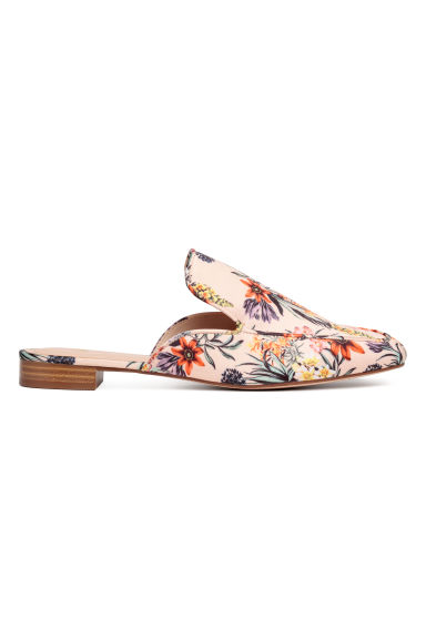 Slip-on loafers - Powder beige/Floral - Ladies | H&M CN