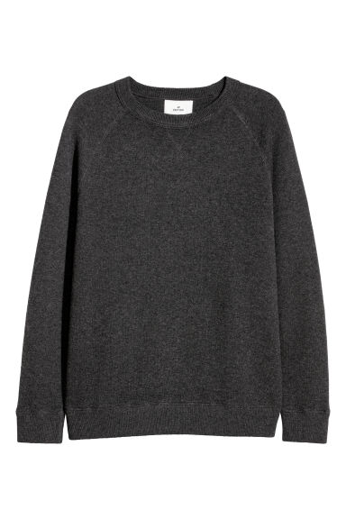 Wool-blend sweatshirt - Dark grey marl -  | H&M