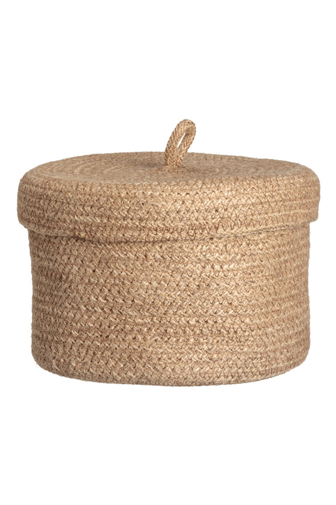 8a8868cca678 Braided jute basket - Natural - Home All
