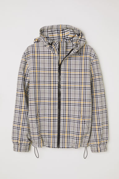 Jacket - White/Checked - Men | H&M
