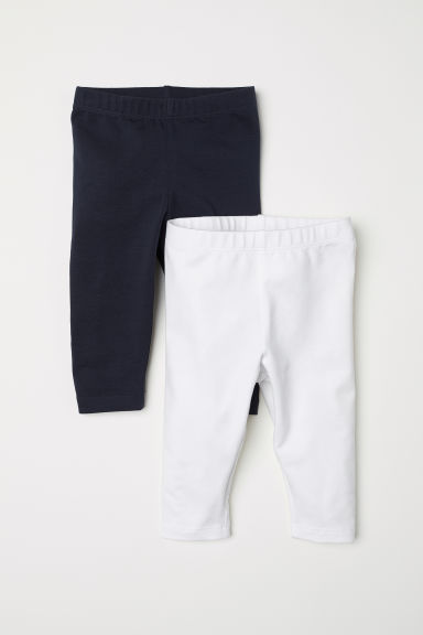 2-pack leggings - Dark blue/White - Kids | H&M