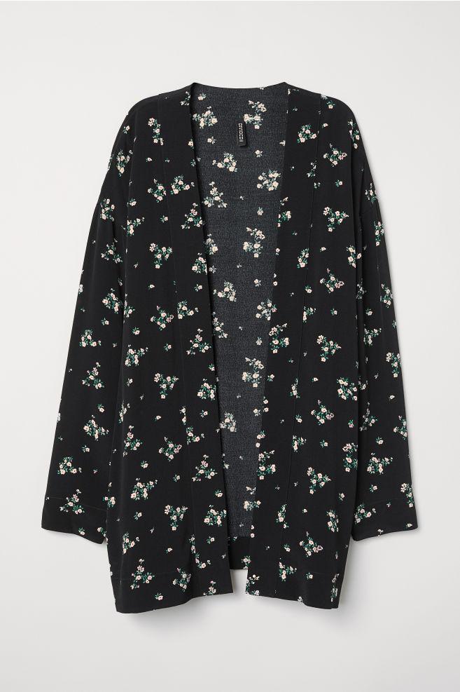 3afcf0b20 Kimono jacket - Black/Floral - | H&M ...