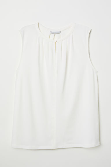 Top in jersey increspato - Crema - DONNA | H&M IT