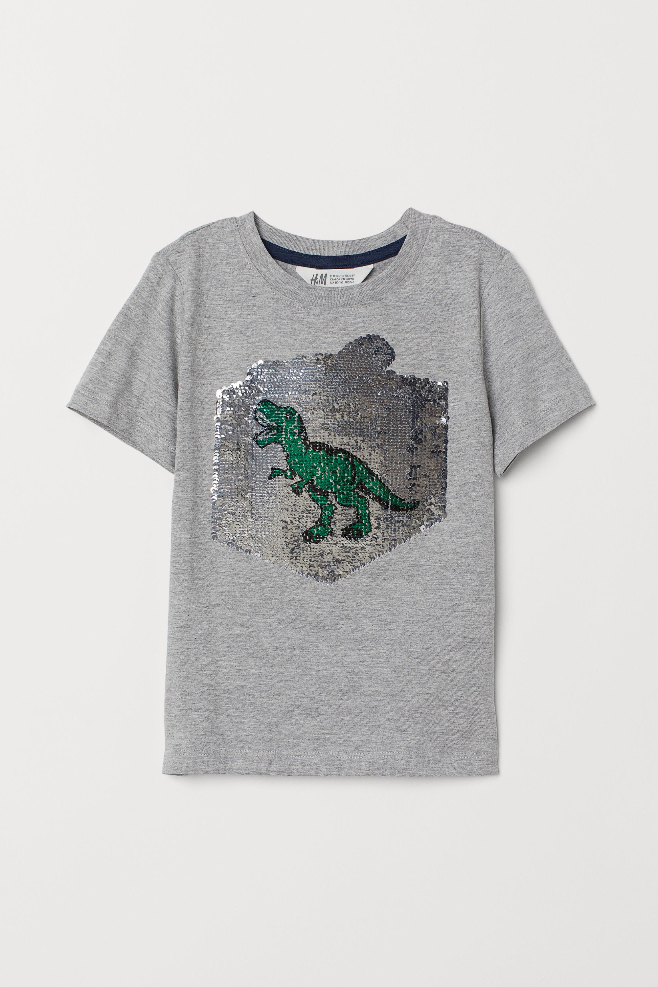 a51d9718 T-shirt with Motif - Light blue/shark - Kids | H&M US