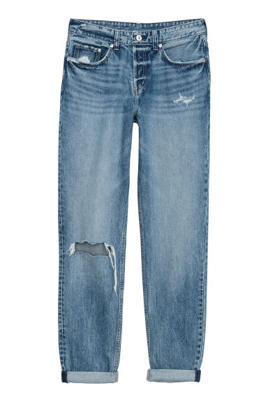 Boyfriend Low Ripped Jeans - Denimblauw -  | H&M BE