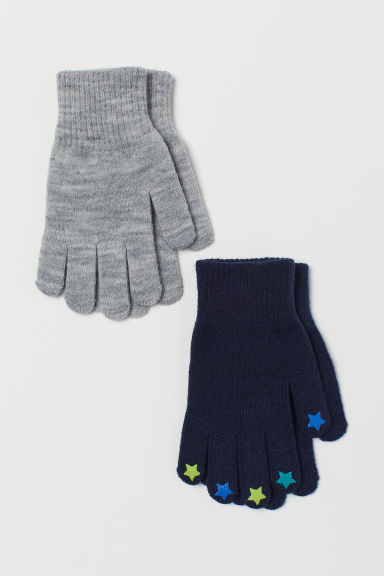 2-pack gloves - Dark blue/Stars -  | H&M