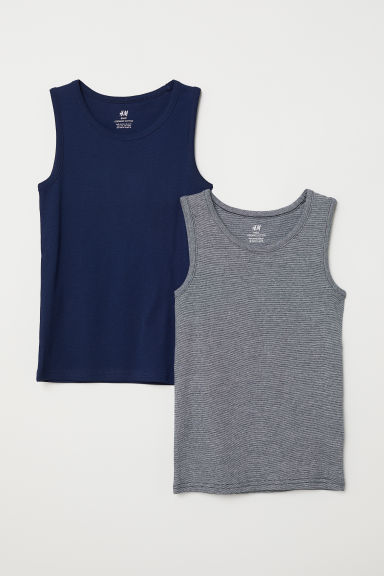 2-pack vest tops - Dark blue - Kids | H&M