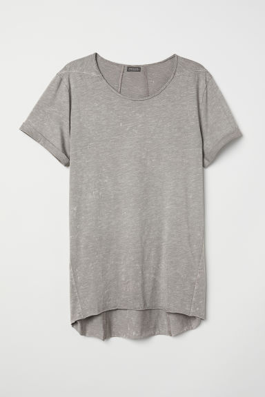 Long T-shirt - Grey washed out - Men | H&M