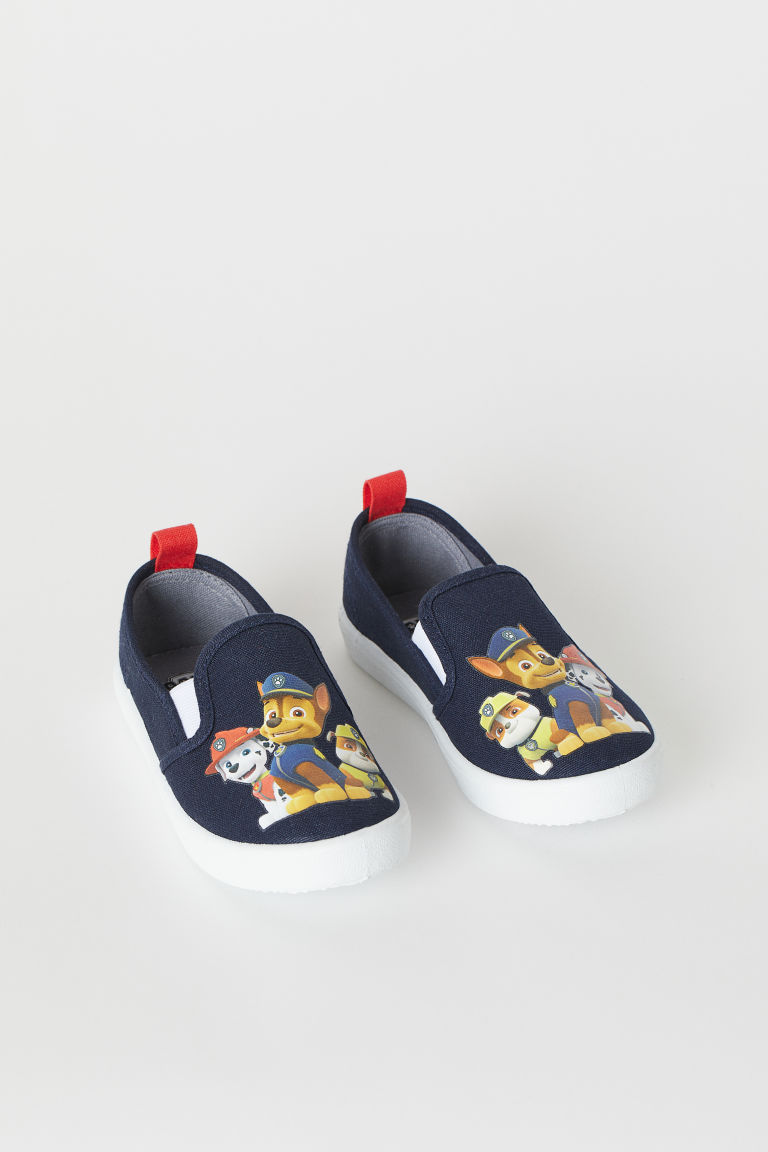 Slip-on trainers - Dark blue/Paw Patrol - Kids | H&M GB