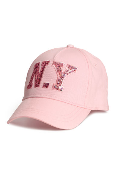 Cap with an appliqué - Pink - Kids | H&M CN