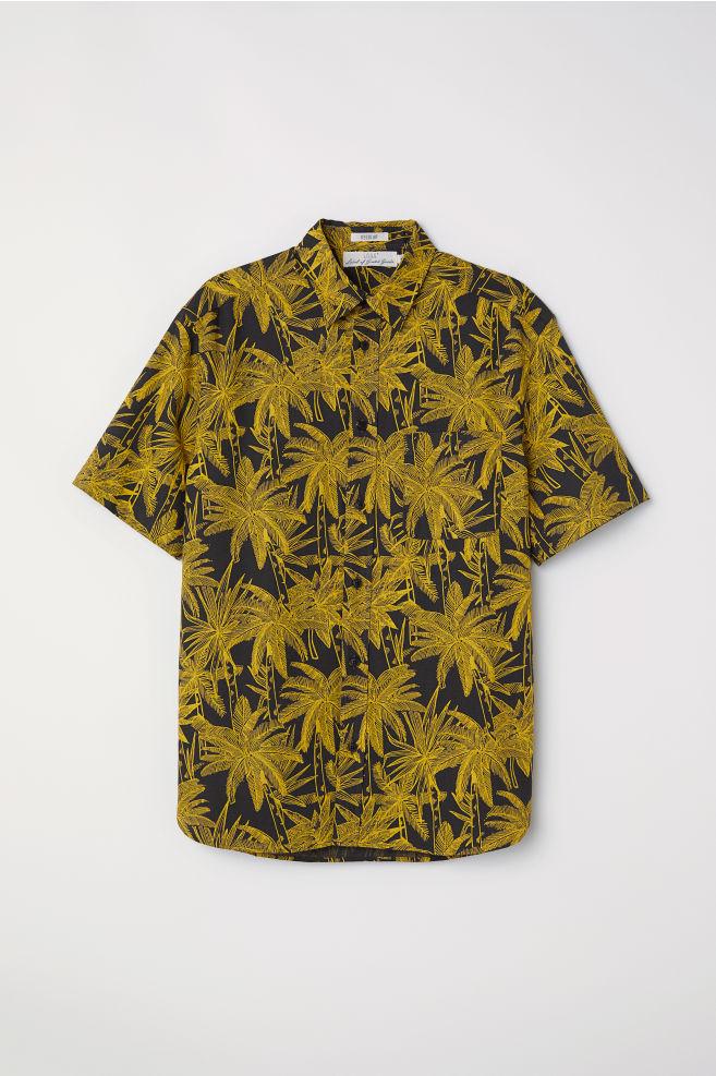 Kortärmad skjorta Regular fit - Svart Palmer - HERR  6af0302bff50d