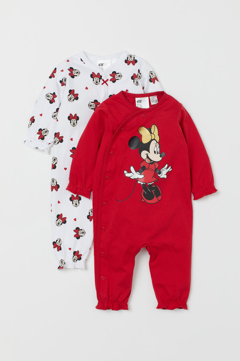 2-pack Jumpsuits - Red/Minnie Mouse - Kids | H&M CA