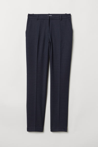 Suit trousers - Dark blue/Spotted -  | H&M CN