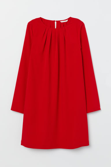 Long-sleeved Dress - Red -  | H&M US
