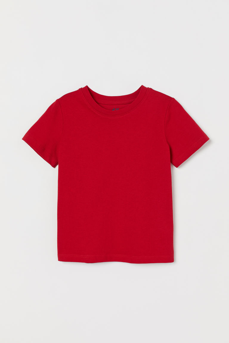 Cotton T-shirt - Red - Kids | H&M CN