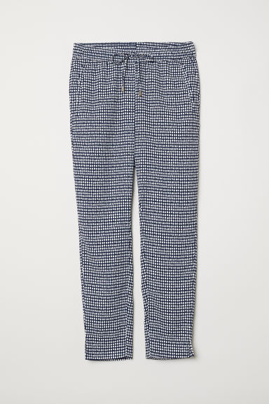Pantaloni pull-on - Blu scuro/bianco pois - DONNA | H&M IT