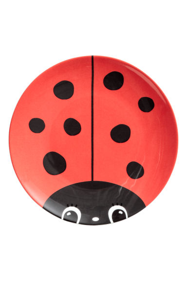 Assiette en porcelaine - Rouge/coccinelle - Home All | H&M FR