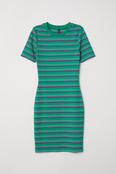 Abito a costine - Verde/righe - DONNA | H&M IT