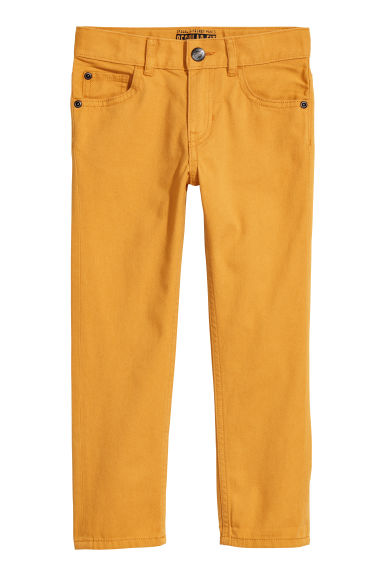 Twill trousers Regular fit - Mustard yellow -  | H&M CN